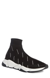 Balenciaga 'S Logo Speed Slip On Noir Blanc