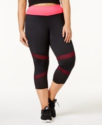 Ideology Plus Size Mesh Trimmed Cropped Leggings Only At Macy's Flashmode
