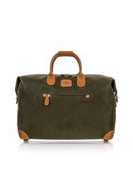 Bric's Life Olive Green Micro Suede 18 Carry On Holdall