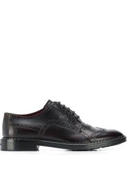 Dolce And Gabbana Brogue Derby Shoes Brown