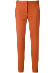 Tory Burch Slim Fit Trousers Yellow And Orange