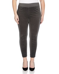 Xcvi Oslo Ruched Corduroy Inset Leggings Shadow