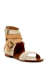 Australia Luxe Collective Peony Ankle Wrap Sandal Beige