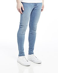 Cheap Monday Low Spray Jeans In Super Skinny Fit Light Blue