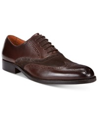 Tasso Elba Men's Vitale Wing Tip Lace Up Only At Macy's Men's Shoes Brown