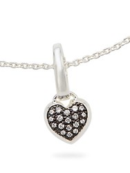 Ippolita Ippolitini Diamond And Sterling Silver Heart Charm Pendant Black