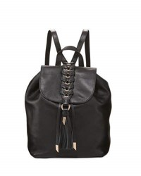 Foley Corinna La Trenza Leather Backpack Black