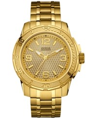 Guess Men's Gold Tone Stainless Steel Bracelet Watch 46Mm U0681g2