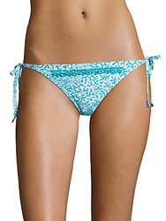 Michael Kors Euro Beaded String Bikini Bottom Turquoise