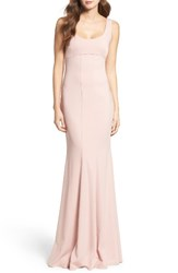 Katie May Women's Westward Stretch Crepe Gown Dusty Rose