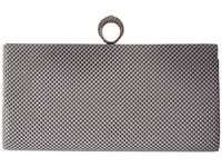 Jessica Mcclintock Bailey Mesh Ring Clutch Silver Clutch Handbags
