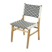 Amara Ashlyn Chair Black White