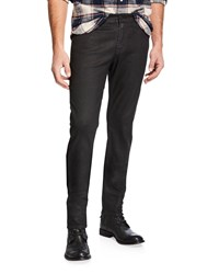 Ag Adriano Goldschmied Everett Straight Leg Denim Jeans Black