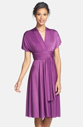 Women's Dessy Collection Front Twist African Violet