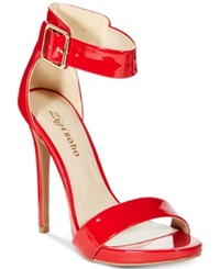 Zigi Soho Miller Two Piece Sandals Women's Shoes Red Patent