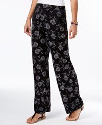 Style And Co Printed Wide Leg Pants Only At Macy's Retro Expression
