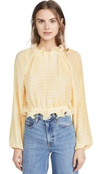 C Meo Collective Stealing Sunshine Top Yellow Check