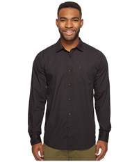 Volcom Everett Solid Long Sleeve Woven Black Men's Long Sleeve Pullover