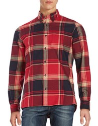 Brooks Brothers Plaid Flannel Sport Shirt Red