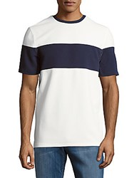 Vince Camuto Colorblock Short Sleeve Tee White