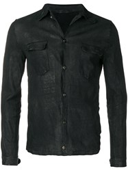 Salvatore Santoro Creased Leather Jacket Black