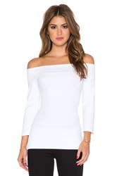 Susana Monaco Banded Off The Shoulder Top White