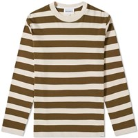 Norse Projects Long Sleeve Johannes Rugby Stripe Tee Green