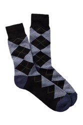 1901 Argyle Over The Calf Socks Black