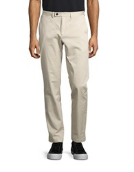 Brooks Brothers Straight Leg Solid Pants Natural