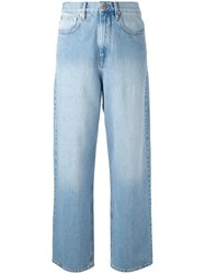 Etoile Isabel Marant 'Corby' Slouchy Jeans Blue