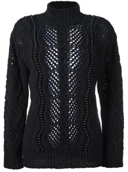 Ermanno Scervino Beaded Embellished Pullover Black