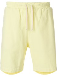 Universal Works Drawstring Beach Shorts Yellow And Orange