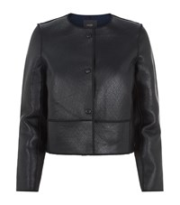 Maje Long Sleeved Leather Look Jacket Female Black
