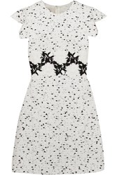 Giambattista Valli Embroidered Tweed Mini Dress White
