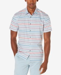 Perry Ellis Men's Big And Tall Multi Color Striped Shirt Citadel