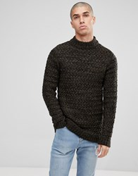 Only And Sons Knitted Jumper With High Neck Black