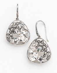 Lord And Taylor Sterling Silver Marcasite Earrings Multi