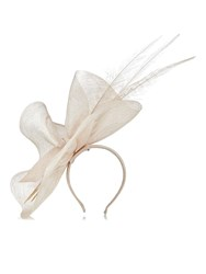 Jacques Vert Ruffle Fascinator Neutral