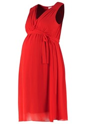 Mama Licious Mlcalla Summer Dress Pompeian Red