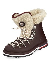 Moncler Inaya Scarpa Lace Up Hiking Boots Burgundy
