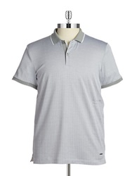 Calvin Klein Patterned Polo Concrete