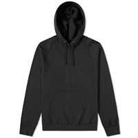 Save Khaki Supima Fleece Popover Hoody Black