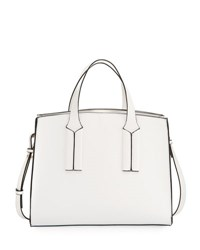 French Connection Coy Faux Leather Tote Bag White