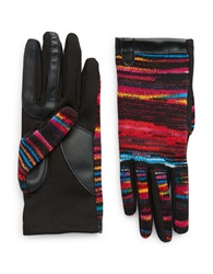 Isotoner Woven Tech Gloves Black
