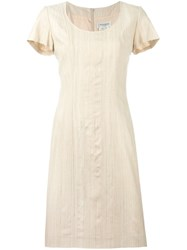Yves Saint Laurent Vintage Classic Round Neck Dress Nude And Neutrals