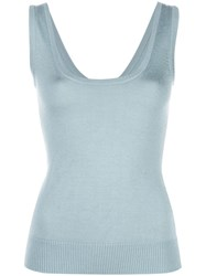 Sally Lapointe Sleeveless Knitted Top Green