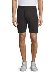 Officine Generale Solid Faded Deck Shorts Faded Black