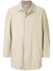 Gieves And Hawkes Single Breasted Raincoat Brown
