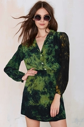 Nasty Gal Vintage With Envy Tie Dye Silk Dress