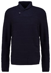 Bellfield Finbarr Jumper Navy Dark Blue